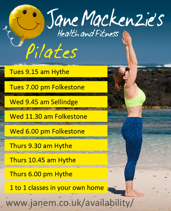 Jane Mackenzie's Pilates classes in Folkestone Hythe and Sellinge