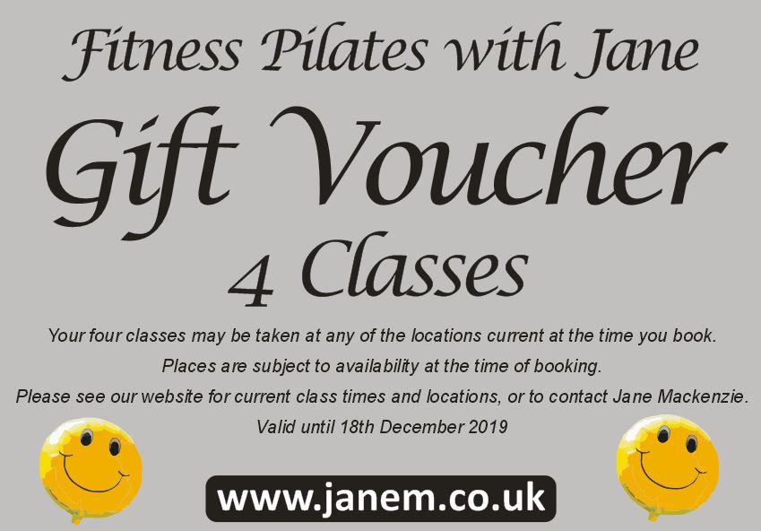 Pilates Voucher - 4 classes