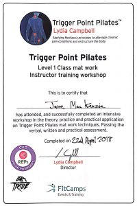 Jane Mackenzie - Trigger Point Pilates classes in Folkestone and Hythe