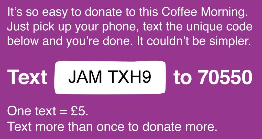Coffee Morning donate