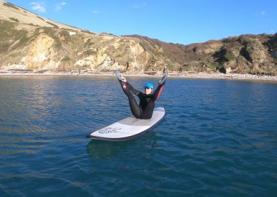 Pilates on a Stand Up Paddle Board