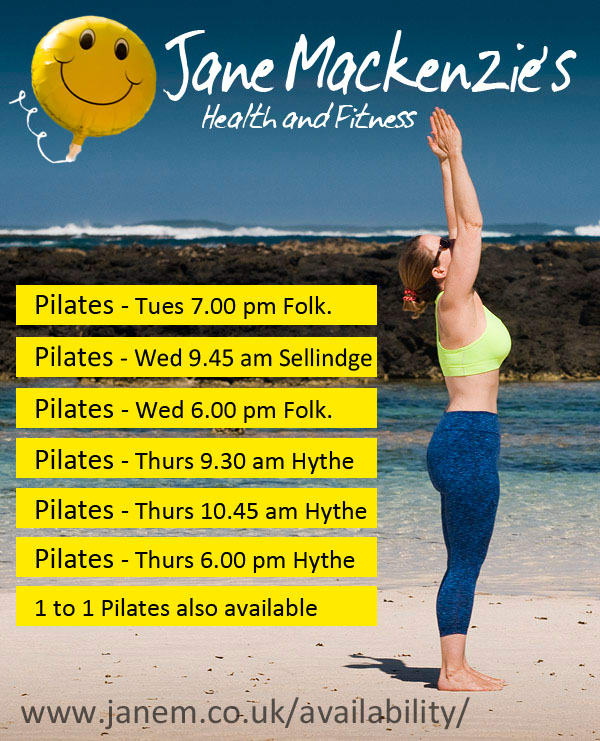 Pilates Classes in Folkestone Hythe and Sellindge Jane Mackenzie's Health and Fitness