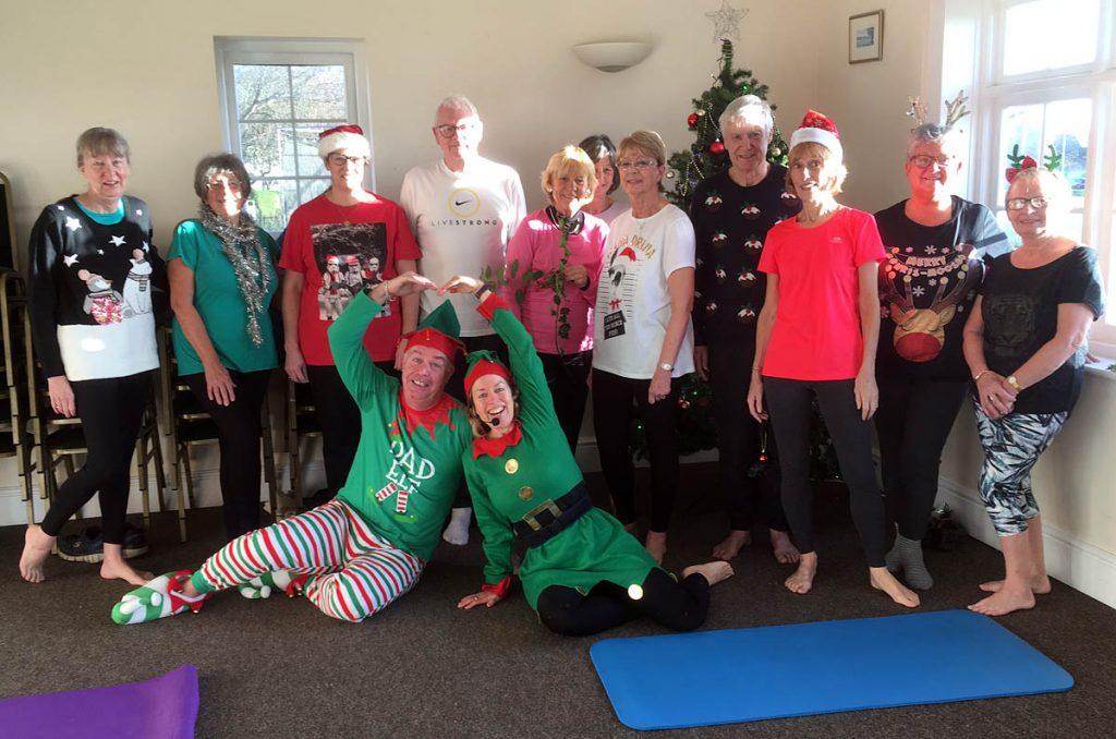 Pilates classes with Jane Mackenzie at Christmas