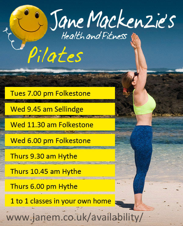 Jane Mackenzie's Pilates classes in Folkestone Hythe Sellindge