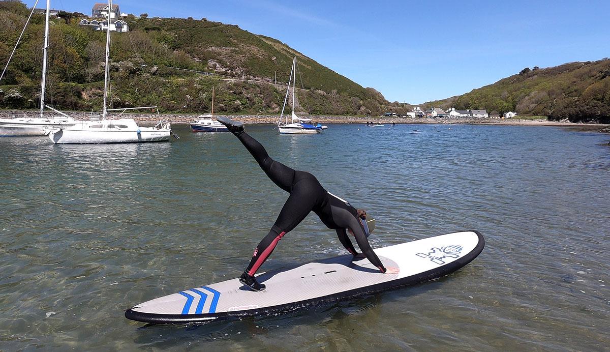SUP Pilates Solva Pembrokeshire