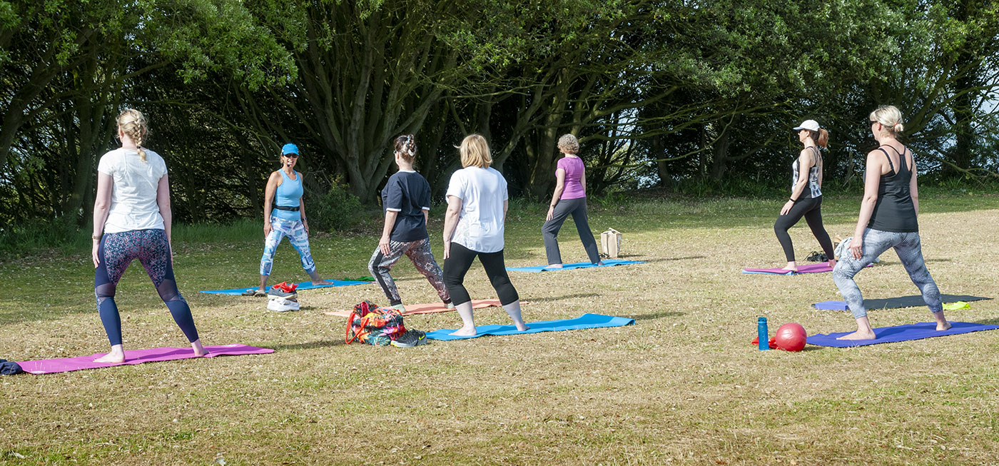 Outdoor Pilates in Folkestone on the Leas