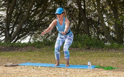 The First of My Outdoor Pilates Classes in Folkestone