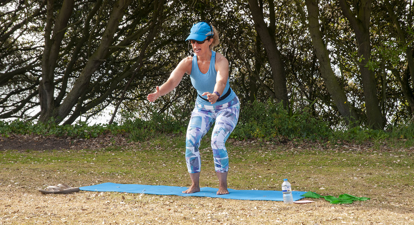 Jane Mackenzie's outdoor Pilates classes in Folkestone on the Leas