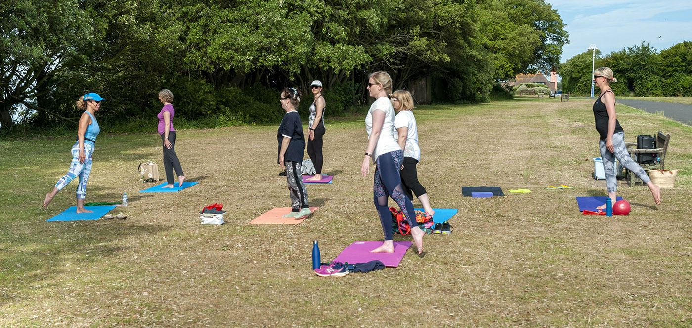 Jane Mackenzie's outdoor Pilates classes in Folkestone and Hythe