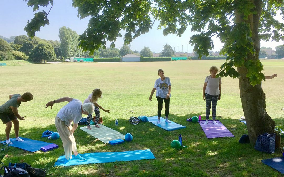Outdoor Pilates in Hythe