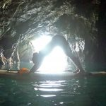 SUP Pilates in Morgat Caves Brittany