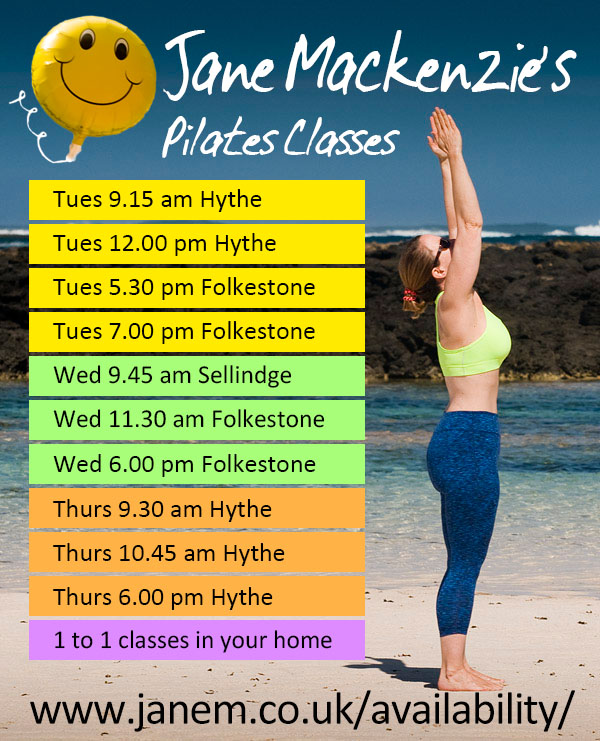 Pilates classes Folkestone Hythe and Sellindge with Jane Mackenzie