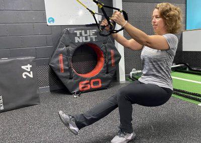 Jane Mackenzie using the TRX Suspension Training System