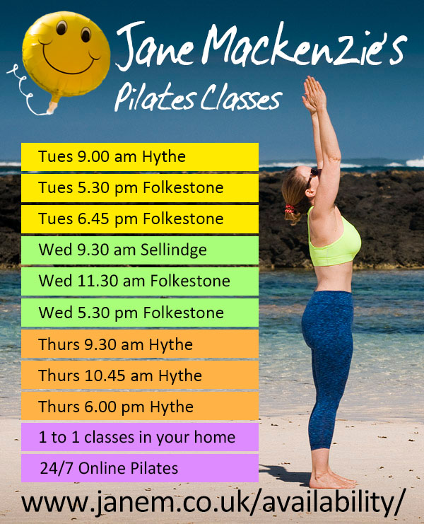Jane Mackenzie Pilates Classes Folkestone Hythe Kent and Online