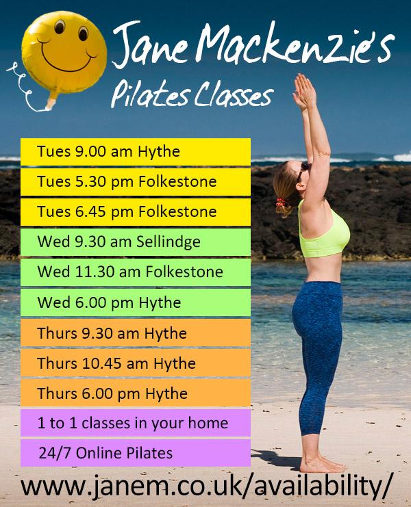 Pilates Classes Folkestone Hythe Sellindge with Jane Mackenzie